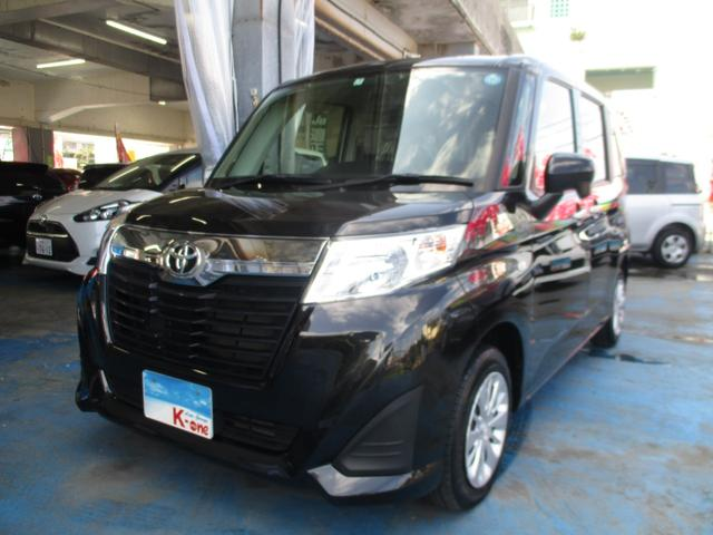 沖縄の中古車 トヨタ ルーミー 車両価格 119万円 リ済込 2018(平成30)年 2.1万km ブラックM
