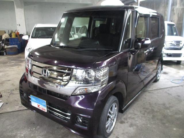 沖縄の中古車 ホンダ N-BOXカスタム 車両価格 105万円 リ済込 2016(平成28)年 3.2万km ダークパープルM