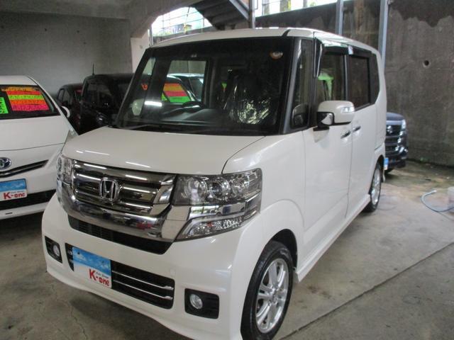 沖縄の中古車 ホンダ N-BOXカスタム 車両価格 115万円 リ済込 2017(平成29)年 3.8万km パールホワイト