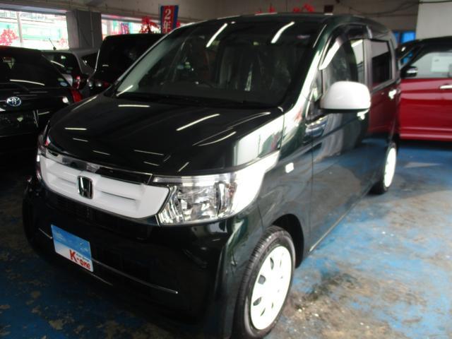 沖縄の中古車 ホンダ N-WGN 車両価格 85万円 リ済込 2017(平成29)年 1.9万km ブリティッシュグリーンパール