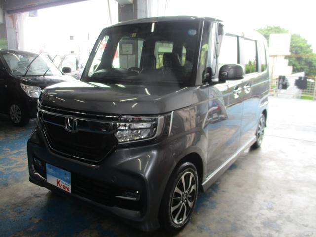 沖縄県の中古車ならN-BOXカスタム G・Lホンダセンシング 衝突軽減ブレーキシティブレーキアクティブシステム搭載・パワースライドドア