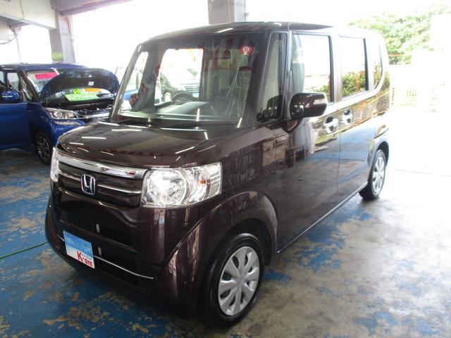 沖縄の中古車 ホンダ N-BOX 車両価格 85万円 リ済込 2016(平成28)年 4.0万km DブラウンM