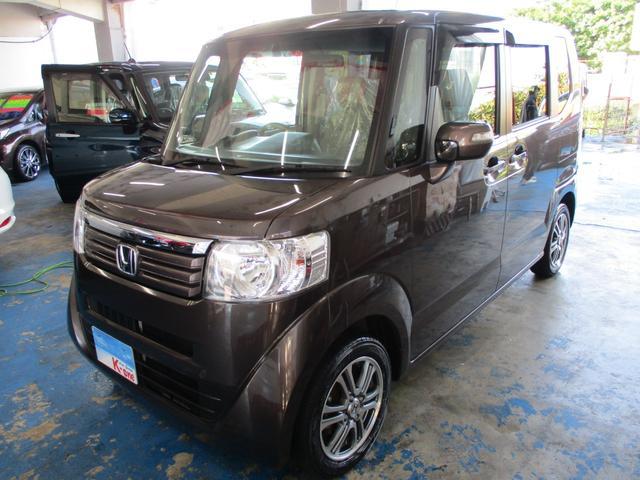 沖縄の中古車 ホンダ N-BOX 車両価格 72万円 リ済込 2013(平成25)年 6.6万km Dブラウン