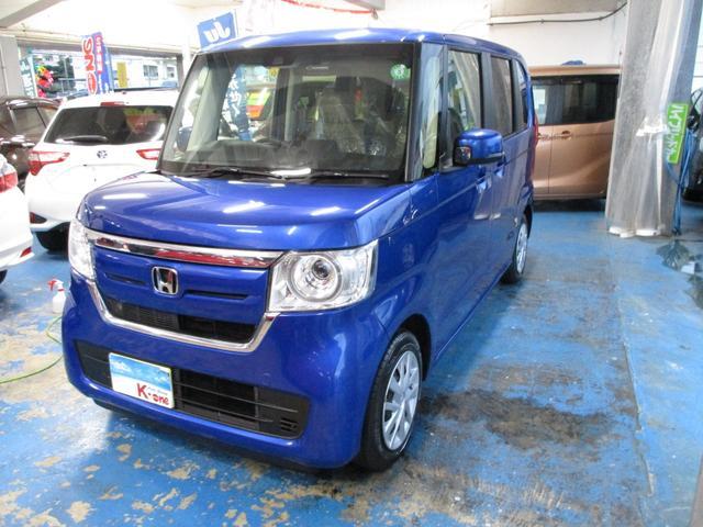 沖縄の中古車 ホンダ N-BOX 車両価格 115万円 リ済込 2020(令和2)年 1.0万km ブルーM