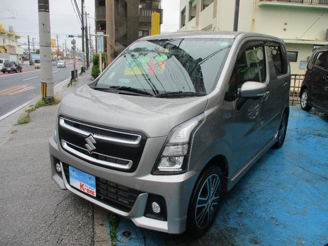 沖縄県宜野湾市の中古車ならワゴンRスティングレー ハイブリッドT ターボ