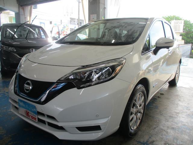 沖縄の中古車 日産 ノート 車両価格 118万円 リ済込 2019(令和1)年 5.3万km パールホワイト