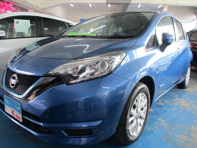 沖縄の中古車 日産 ノート 車両価格 128万円 リ済込 2020(令和2)年 1.9万km ブルーM