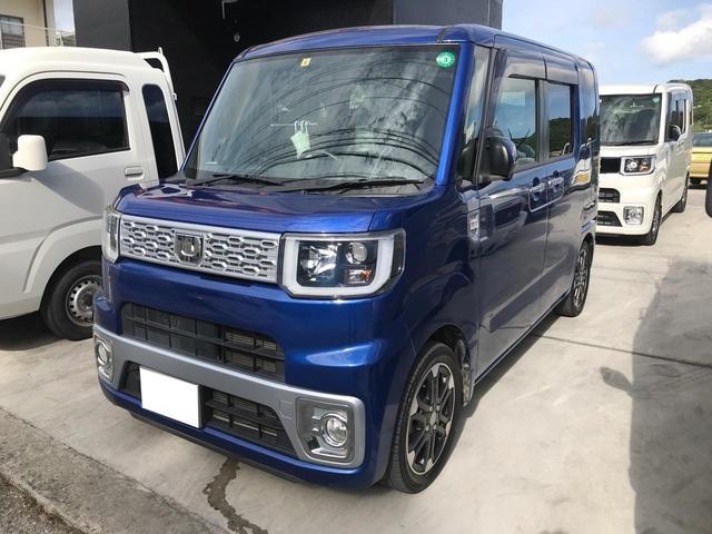 沖縄の中古車 ダイハツ ウェイク 車両価格 89万円 リ済込 2015(平成27)年 7.4万km ブルー