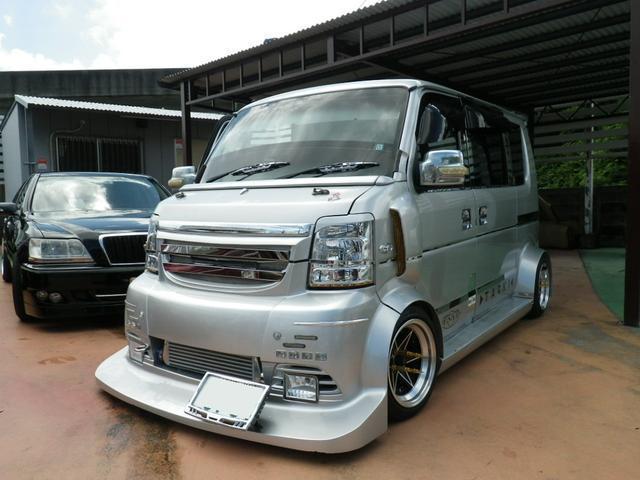 沖縄県の中古車ならエブリイワゴン PZターボ ワイドボディ公認 ガルウィング