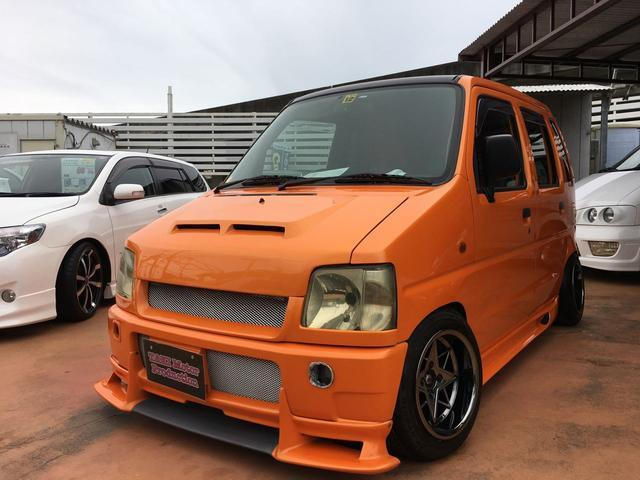 沖縄の中古車 スズキ ワゴンR 車両価格 39万円 リ済別 1996(平成8)年 16.9万km オレンジM