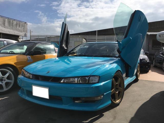 沖縄の中古車 日産 シルビア 車両価格 79万円 リ済別 平成9年 17.9万km ライトブルーM