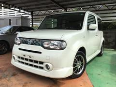沖縄の中古車 日産 キューブ 車両価格 47万円 リ済別 平成23年 12.1万K ホワイトパール