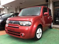 沖縄の中古車 日産 キューブ 車両価格 39万円 リ済別 平成21年 10.8万K ルミナスレッドM