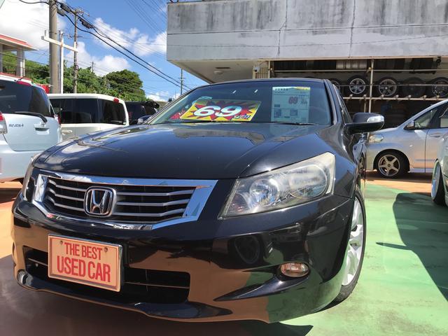 沖縄の中古車 ホンダ インスパイア 車両価格 59万円 リ済別 平成21年 12.2万km プレミアムブラキッシュパール