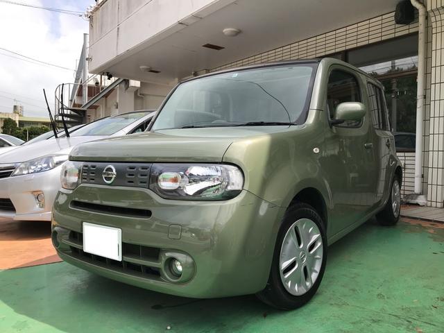 沖縄の中古車 日産 キューブ 車両価格 45万円 リ済別 平成20年 8.8万km オーガニックオリーブPM