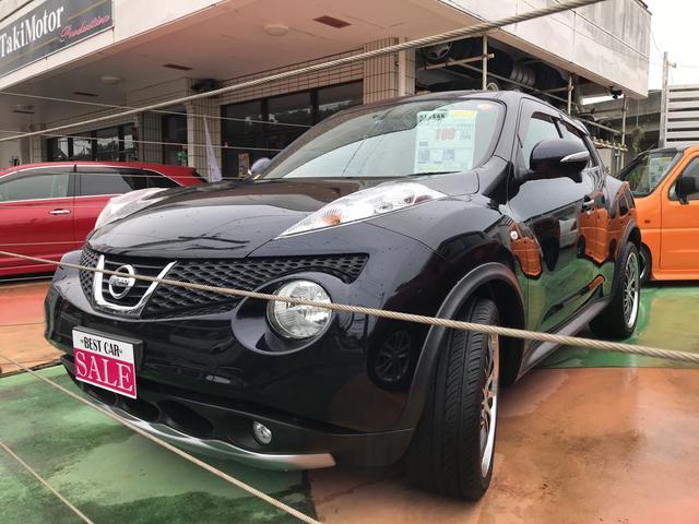 沖縄の中古車 日産 ジューク 車両価格 79万円 リ済別 2011(平成23)年 10.9万km サファイアブラックP