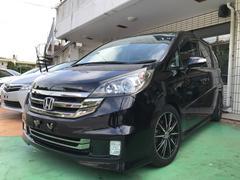 沖縄の中古車 ホンダ ステップワゴン 車両価格 49万円 リ済別 平成19年 12.9万K ナイトホークブラックパール