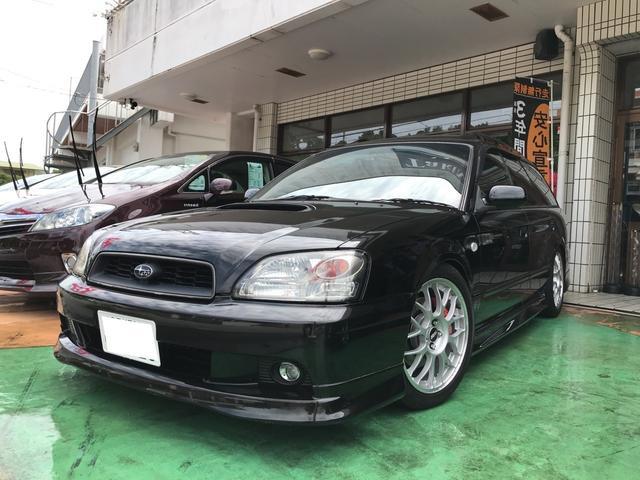 沖縄の中古車 スバル レガシィツーリングワゴン 車両価格 57万円 リ済別 2003(平成15)年 9.6万km ブラックトパーズマイカ