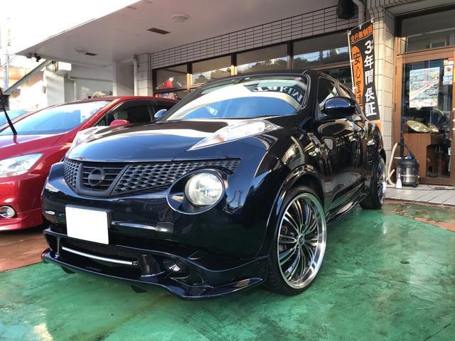 沖縄の中古車 日産 ジューク 車両価格 77万円 リ済別 2011(平成23)年 12.0万km サファイアブラックP