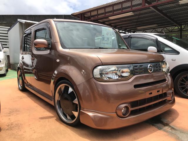 沖縄の中古車 日産 キューブ 車両価格 47万円 リ済別 2011(平成23)年 9.2万km シャイニーブロンズPM