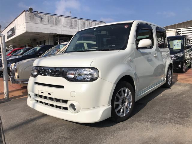 沖縄の中古車 日産 キューブ 車両価格 39万円 リ済別 2011(平成23)年 13.0万km ホワイトパール