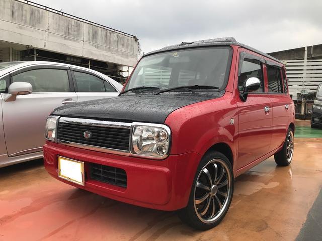 沖縄の中古車 スズキ アルトラパン 車両価格 59万円 リ済別 2004(平成16)年 6.5万km ブライトレッド2
