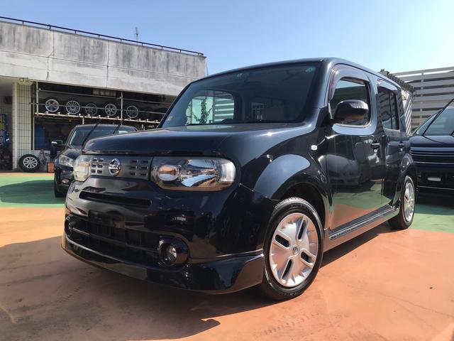 沖縄の中古車 日産 キューブ 車両価格 39万円 リ済別 2010(平成22)年 10.4万km ブラックM