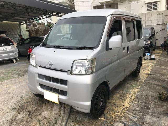 沖縄県の中古車ならハイゼットカーゴ クルーズターボ CD ABS 純正フルエアロ タイヤ新品