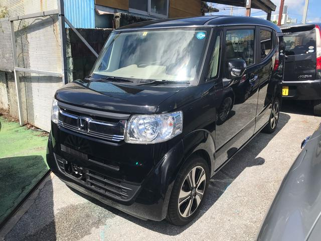 沖縄県の中古車ならN-BOXスラッシュ G ストラーダナビ NEWレザー調シートカバー 禁煙車