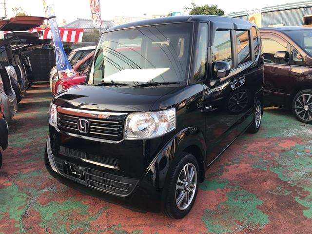 沖縄の中古車 ホンダ N-BOX 車両価格 85万円 リ済込 2014(平成26)年 6.5万km ブラック