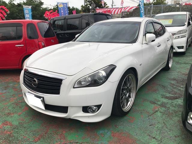 沖縄の中古車 日産 フーガ 車両価格 149万円 リ済込 2011(平成23)年 8.4万km パールホワイト