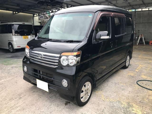 沖縄の中古車 ダイハツ アトレーワゴン 車両価格 39万円 リ済込 2008(平成20)年 11.5万km ブラック