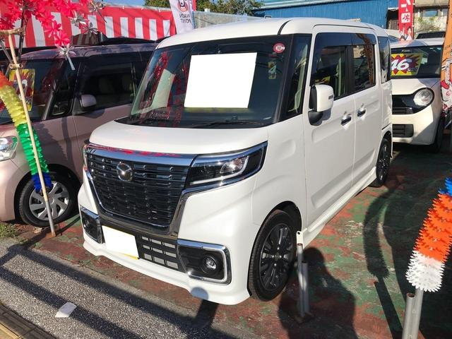 沖縄県の中古車ならフレアワゴンカスタムスタイル ハイブリッドXS フルセグTV HDDナビ プッシュスタート