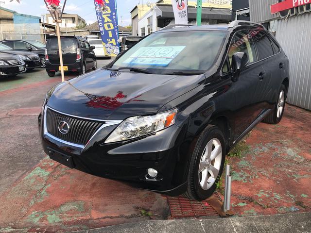 沖縄の中古車 レクサス RX 車両価格 149万円 リ済込 2011(平成23)年 7.8万km ブラック