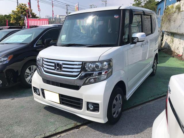 沖縄の中古車 ホンダ N-BOXカスタム 車両価格 69万円 リ済込 2012(平成24)年 10.5万km パールホワイト