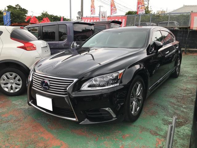 沖縄の中古車 レクサス LS 車両価格 ASK リ済込 2015(平成27)年 0.7万km ブラック