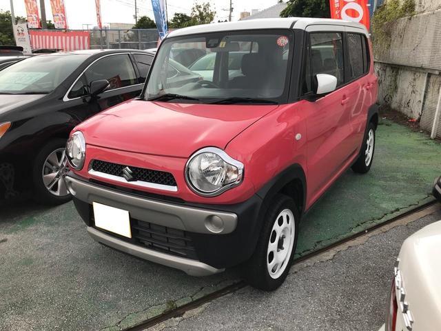 沖縄県宜野湾市の中古車ならハスラー G ツートンカラー ブレーキサポート ナビ プッシュスタート