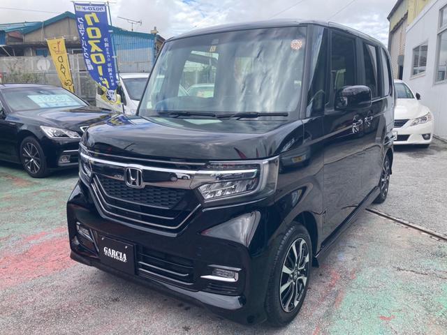 沖縄の中古車 ホンダ N-BOXカスタム 車両価格 159万円 リ済込 2017(平成29)年 1.5万km ブラック