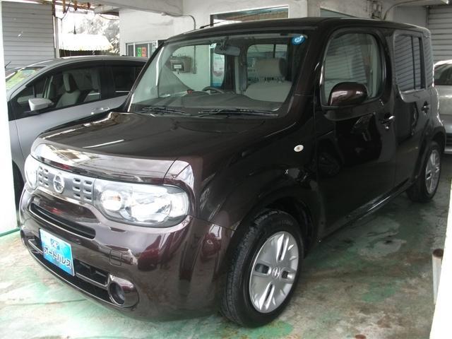 沖縄の中古車 日産 キューブ 車両価格 77万円 リ済込 平成28年 6.4万km ブラウン