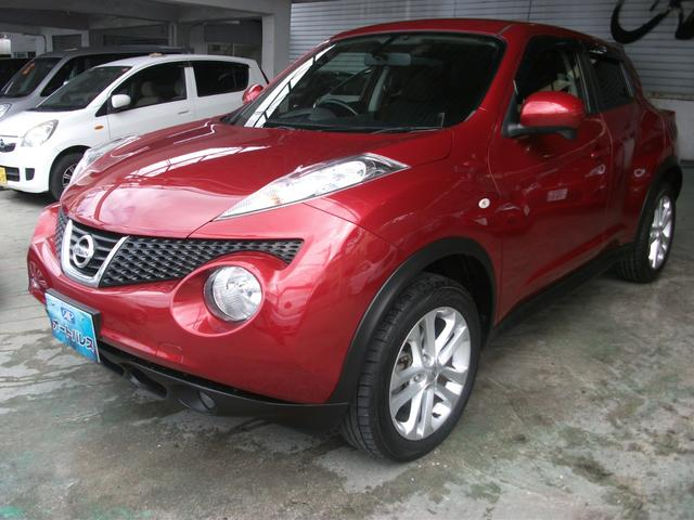 沖縄の中古車 日産 ジューク 車両価格 95万円 リ済込 平成25年 5.1万km ダークレッド