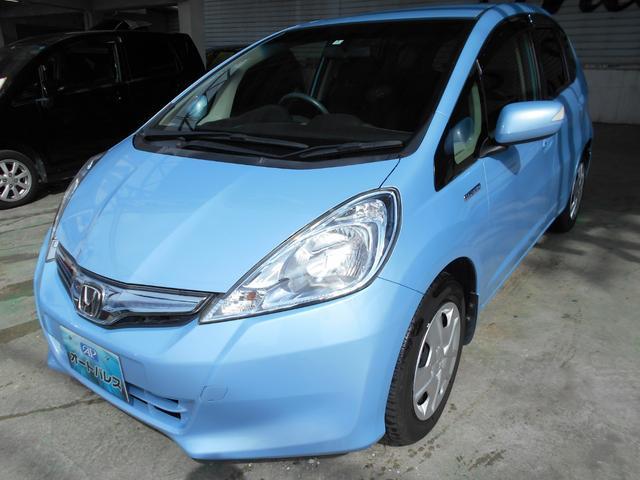 沖縄の中古車 ホンダ フィットハイブリッド 車両価格 68万円 リ済込 平成24年 4.8万km ライトブルー
