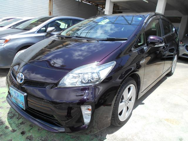 沖縄の中古車 トヨタ プリウス 車両価格 108万円 リ済込 2012(平成24)年 6.6万km ダークパープル