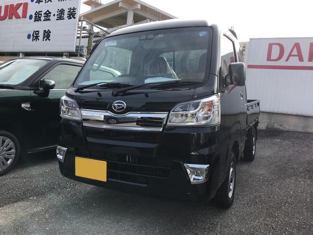 沖縄の中古車 ダイハツ ハイゼットトラック 車両価格 122万円 リ済込 平成30年 5km ブラック