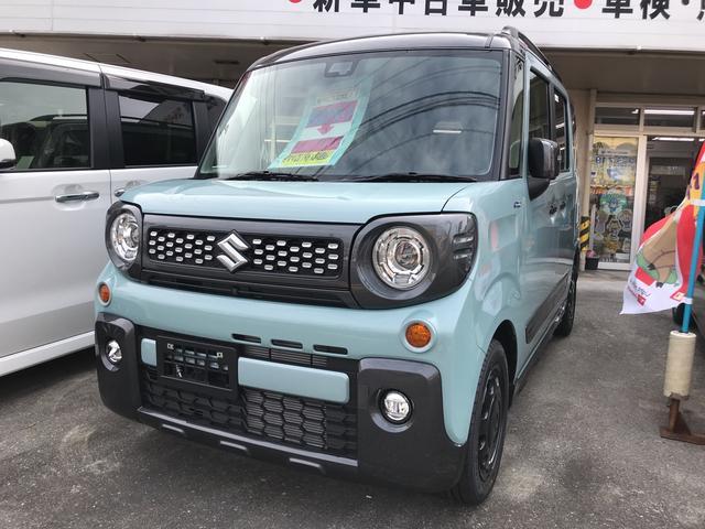 沖縄の中古車 スズキ スペーシアギア 車両価格 169.9万円 リ未 新車  ライトブルーII