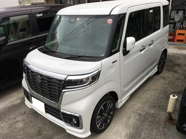沖縄の中古車 スズキ スペーシアカスタム 車両価格 169.1万円 リ済別 新車  ホワイトM