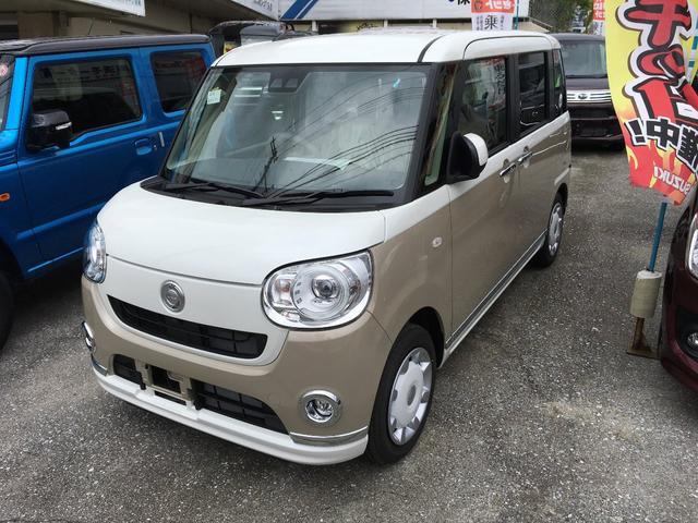 沖縄の中古車 ダイハツ ムーヴキャンバス 車両価格 156万円 リ未 新車  ゴールドII