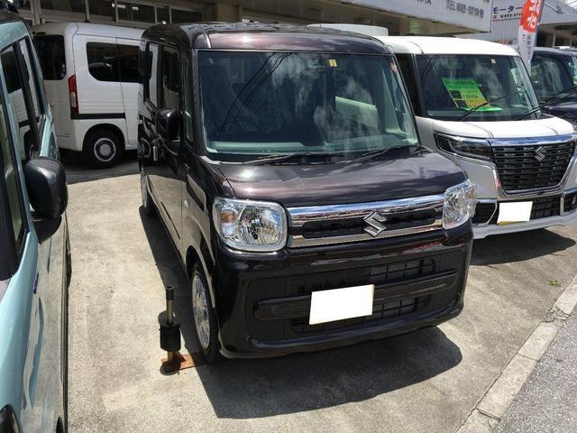 沖縄の中古車 スズキ スペーシア 車両価格 146万円 リ済込 新車  ブラウン