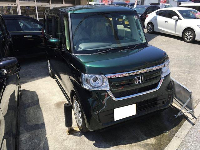 沖縄の中古車 ホンダ N-BOX 車両価格 149万円 リ済込 新車  グリーン