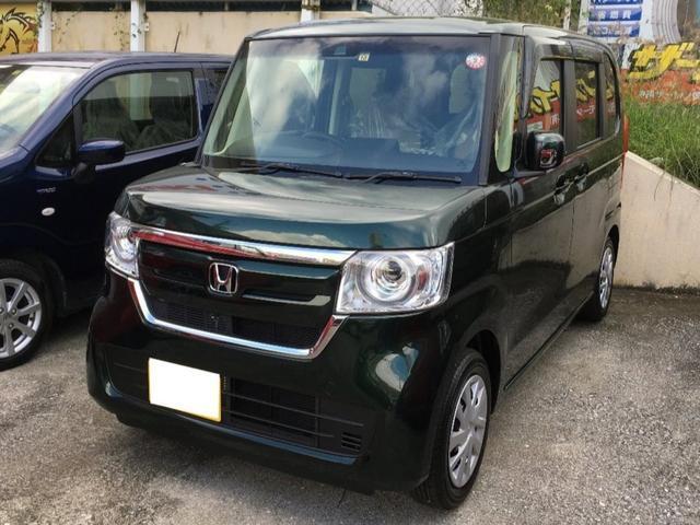 沖縄の中古車 ホンダ N-BOX 車両価格 145万円 リ済込 2019(令和1)年 10km DグリーンM