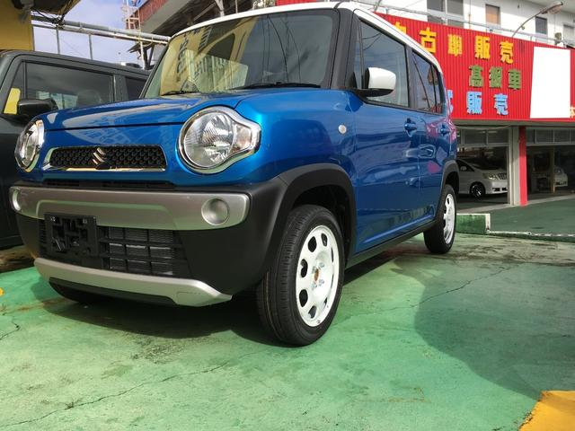 沖縄の中古車 スズキ ハスラー 車両価格 135万円 リ済込 2019(令和1)年 10km ブルーII